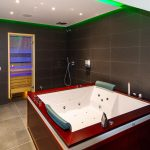 spa zone with jacuzzi and sauna