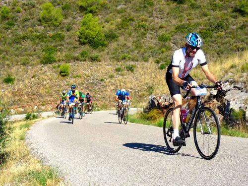 Climbing in the Subida de Castillejos race